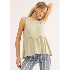 FREE PEOPLE Anytime Tank Top Matcha Green